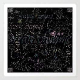 On the blackboard Art Print