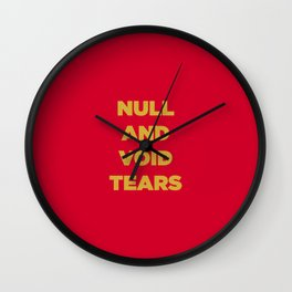 Null And Void Retro Wall Clock