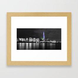 The Shard Lasers Framed Art Print