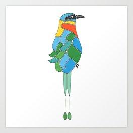 Whimsy bobo bird Art Print