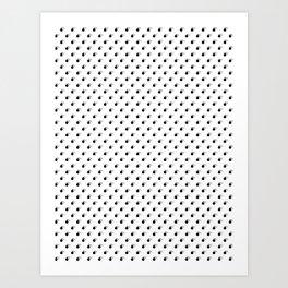 BLACK BOMB DIGGITYS ALL OVER SMALL Art Print