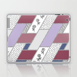 Abstract hand drawn geometric pattern with glitter pink and blue Laptop & iPad Skin