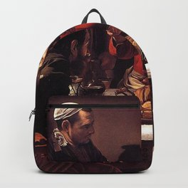 Supper at Emmaus - Caravaggio Backpack