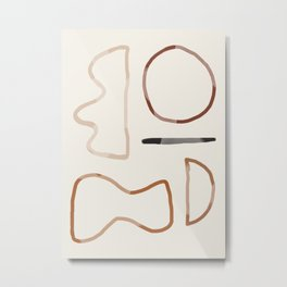 Minimal Abstrac Line Shapes 3 Metal Print