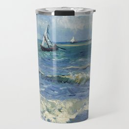 Vincent Van Gogh - Seascape at Saintes-Maries, 1888 Travel Mug