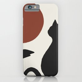 Hidden cat 16 minimal landscape seaside  iPhone Case