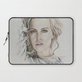 Charlize Theron artwork portrait Laptop Sleeve