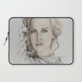Charlize Theron artwork portrait Laptop Sleeve