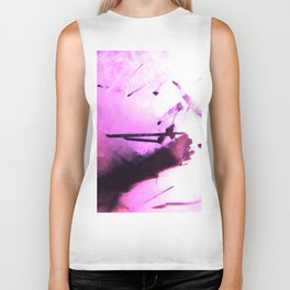 Tourmaline Abstract Biker Tank