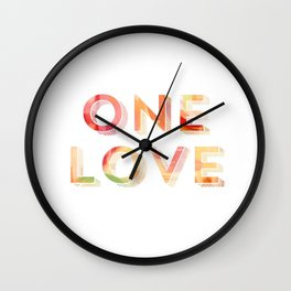 One Love Reggae Tropical Print Wall Clock
