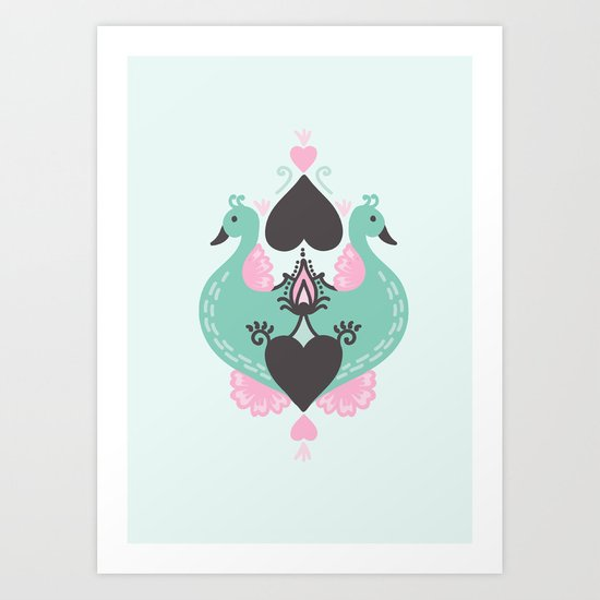 Pretty Peacocks Art Print