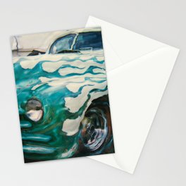 Green Flame Hotrod Stationery Cards