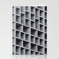 grid Stationery Cards featuring Grid by Cameron Booth