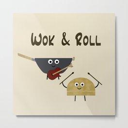 Wok & Roll Metal Print