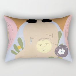 Taking care of the moon Rectangular Pillow