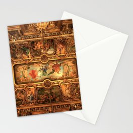 Midnight with Botticelli, Raphael, Michelangelo, & Perugino, Sistine Chapel, Rome Stationery Cards