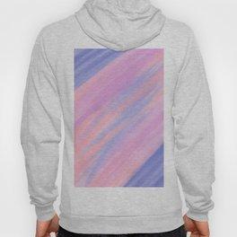 Modern violet pink watercolor brushstrokes stripes Hoody