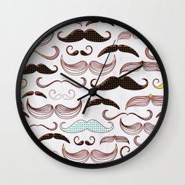 Pop Art Mustache Wall Clock