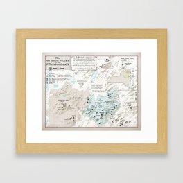 NYS Adirondack 46er Atlas Inspired area map Framed Art Print