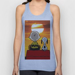 sunset carly snoopy Unisex Tank Top