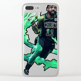 Kyrie the masked hero celtics art Clear iPhone Case