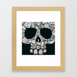 Skull (black) Framed Art Print