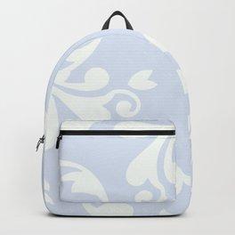 French Damask, Ornaments, Swirls - Blue White Backpack