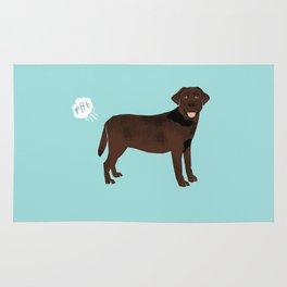 Chocolate Lab funny fart dog breed gifts labrador retrievers Rug