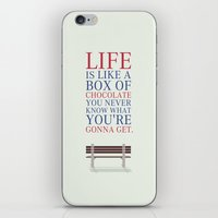 forrest gump iPhone & iPod Skins featuring Lab No. 4 - Forrest Gump Movies Inspirational Quotes Poster by Lab No. 4