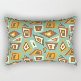 African Abstract Geometric Retro Rectangular Pillow