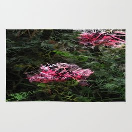 Pink Roses in Anzures 5  Letters 2 Rug