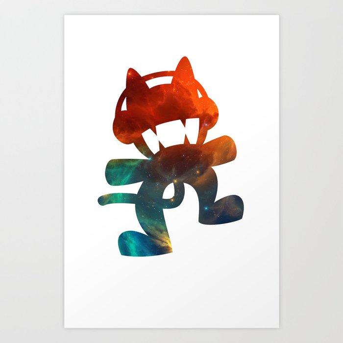 e89d48d11c6a Monstercat galaxy - minimal Art Print by alexnolasco