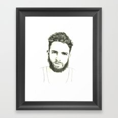 Beards Framed Art Print