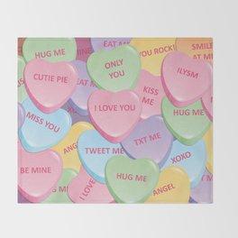 Valentine's candies Throw Blanket