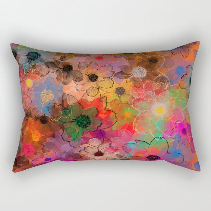 Flower carpet(34). Rectangular Pillow