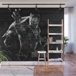 Black Panthers Wall Mural