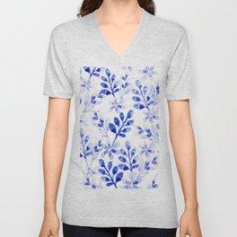 Watercolor Floral VVII Unisex V-Neck