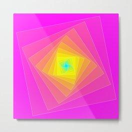 Magenta, Yellow, and Cyan Squares Metal Print