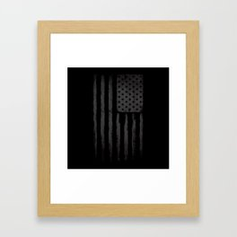 Grey American flag Framed Art Print