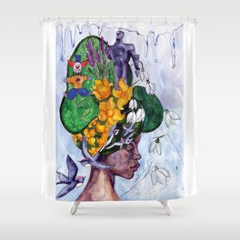 Miss April Shower Curtain