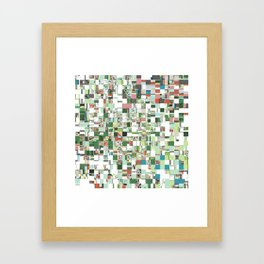 Chaotic Clusters of Green Framed Art Print