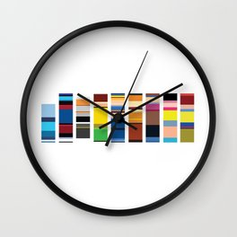 X Palette Wall Clock