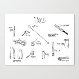 Bar Tools Canvas Print