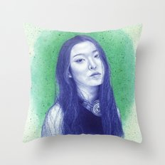 At the moss garden Throw Pillow