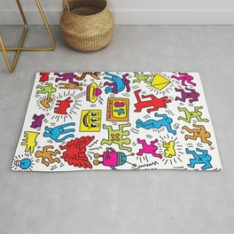 Sketches homage to Keith Haring Rug