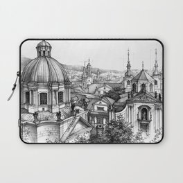 Prague over the rooftops Laptop Sleeve