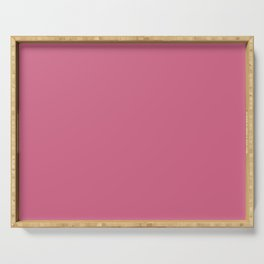 Pale Violet Red Solid Color Serving Tray