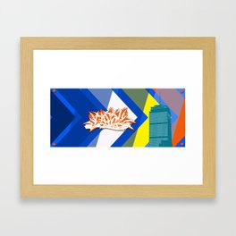 Beantown Graffiti Framed Art Print