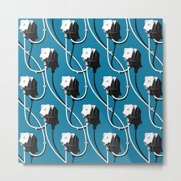 Wired. Blue Metal Print