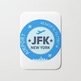 New York blue sticker design Bath Mat